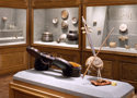 artifact mounts, exhibit consulting, textile strainer, Manoogian Museum